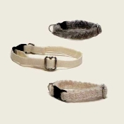 Organic Cat Collars are dye free hemp, hemp/silk or wool collars